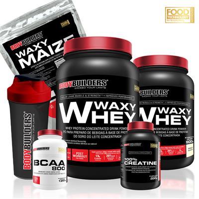 e344837a7 Kit 2 Waxy Whey 900g + Creatina 300g + BCAA 800 120 tabletes + Waxy Maize